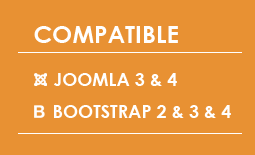 Compatible with Joomla 3 & 4, Bootstrap 2 & 3 & 4