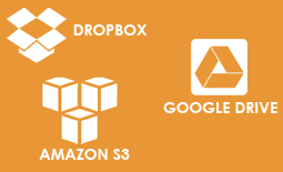 Dropbox, Google Drive, Amazon S3 integration