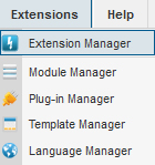 Extension Manager Joomla 2.5