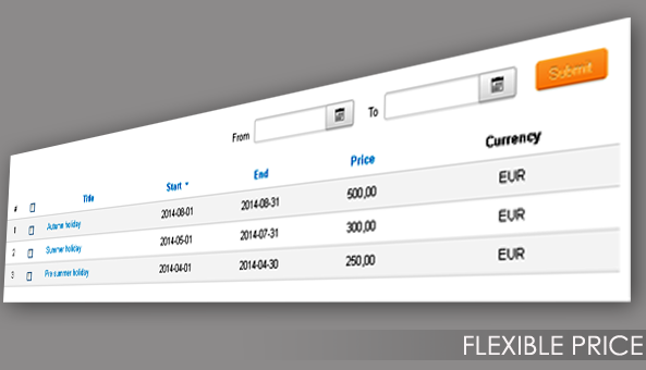 OS Calendar | Flexible Pricing