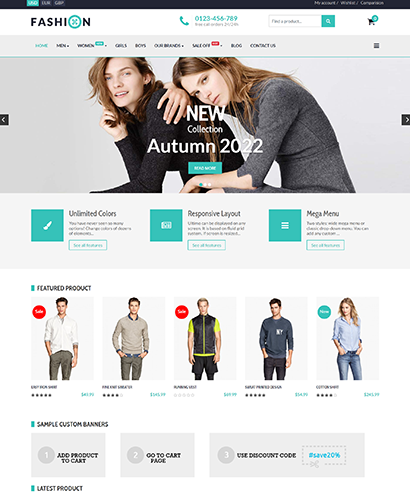 EShop Fashion Pro Template