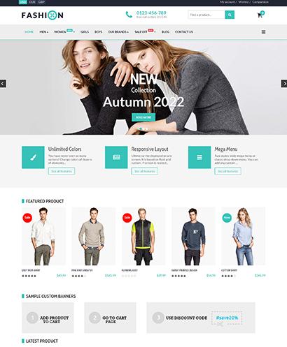 EShop Fashion Pro Template