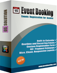 Joomla events booking
