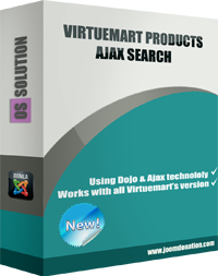 Virtuemart products Ajax search